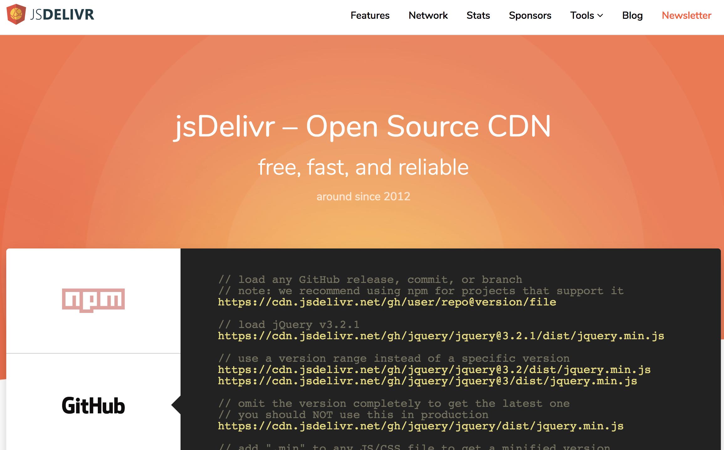 《jsDelivr 为开发者提供免费公共 CDN 加速服务》